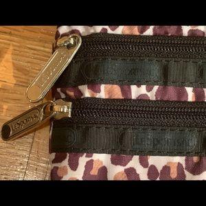 LeSportsac 3 Zip Cosmetic Bag in Leopard Print